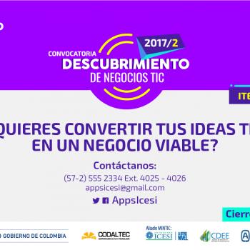 Últimos días para que emprendedores digitales apliquen a la convocatoria de Descubrimiento de Negocios TIC de Apps.co