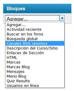 Agregar - Bloque - Canales RSS