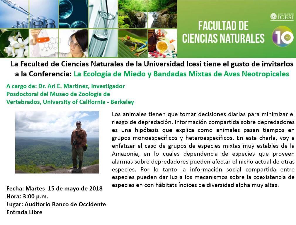 ari-e-martinez-15-mayo-2018-la-ecologia-de-miedo-y-bandadas-mixtas-de-aves-neotropicales