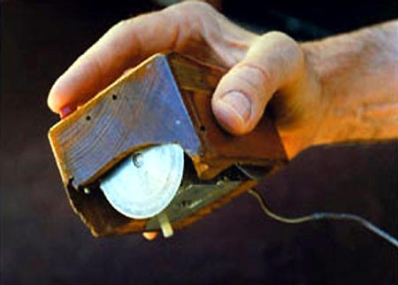 The first mouse as designed by Douglas Engelbart