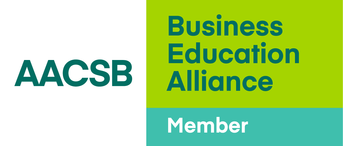 AACSB logo member reverse color RGB