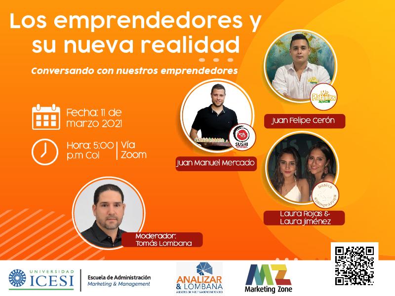 """Conversatorio """"Los emprendedores y su nueva realidad, conversando con nuestros emprendedores"""""""
