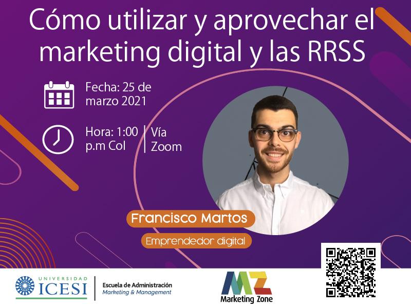 """Foro """"Cómo utilizar y aprovechar el marketing digital y las RRSS"""""""