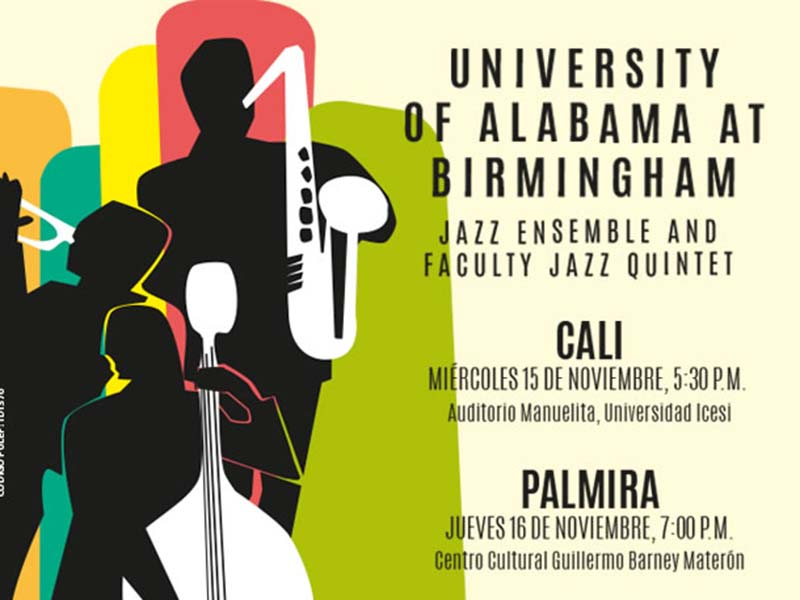 En Icesi: ensemble de Jazz y el Quinteto de Jazz de la Universidad de Alabama